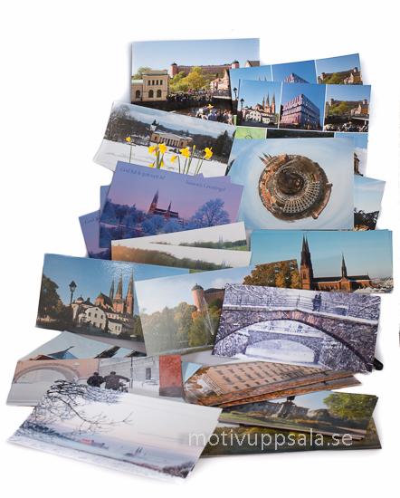 Kort med uppsalabilder