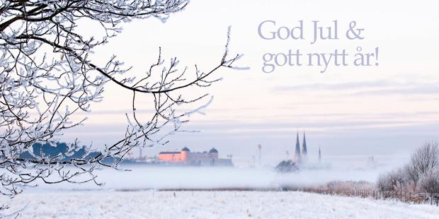 Julkort från Uppsala med julhälsning