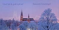 Julkort Uppsala Domkyrka