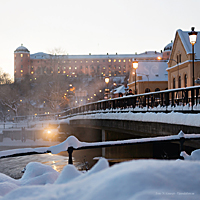 <div>Julkort med Islandsbron &amp;amp; Uppsala slott</div>
