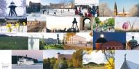 Dubbelt kort kollage med Uppsalabilder 1