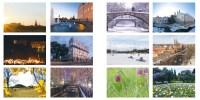 Dubbelt kort kollage med Uppsalabilder 2