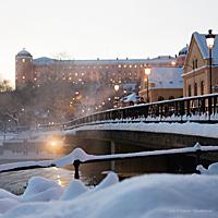 <div>Julkort med Islandsbron &amp; Uppsala slott</div>
