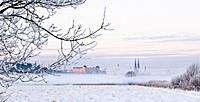 Vykort Uppsala Vinter