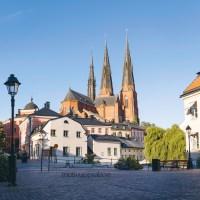 Dubbelt kort med Uppsalabilder, Sommar och höst