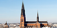 Vykort Uppsala Domkyrka